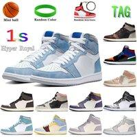 Hiper Kraliyet 1 1 S Basketbol Ayakkabıları Pas Gölge Travis Scotts Kurt Gri Yelken Soluk Fildişi Erkekler Sneakers Kadın Eğitmenler ABD 5.5-12