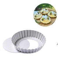 Newmini Tart Pan Pan extraíble Inferior No Stick Round Quiche Bakeware Tortas Postres Cookie Pudding Molde 4 pulgadas EWE6689