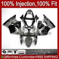 Inyección gris negro nuevo molde corporal para kawasaki ninja zx-6r zx600 zx636 zx-600 cuerpo 37hc.107 zx 600 cc 6 r zx 6r zx 636 600cc zx6r 00 01 02 zx-636 2000 2001 2002 carenado OEM