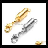 Ganci risultati Componenti Componenti Monili gioielli Sier / oro placcato magnetico magnetico a forma di cilindro Formazione per collana Bracciale gioielli fai da te Dance DeLive