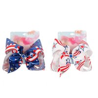 2020 7 polegadas Cabelos arcos Barrettes Europeu Bandeiras Americanas Hairpins Kids Boutique Hairclip Acessórios para o cabelo para a Independência M1889