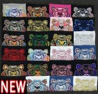 Летние Tee Ins Tiger Head Вышивка Футболка Женщины Дизайнеры Одежда Мужская Дизайнер Футболка Мода Прохладные Пары Повседневная футболка Азиатский Размер S-XXL