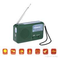 Leoy Protable Sistema di Energia Solare Caricatore del Telefono Radio Dinamo della Manovella Autoalimentato ha condotto La Torcia Elettrica