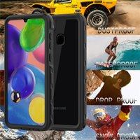 IP68 Waterproof Clear Cover for Samsung A21 Sports Outdoor Durable Sturdy 360 Full Protective Hybrid Rugged Armor Transparent Phone Case with Lanyard Strap