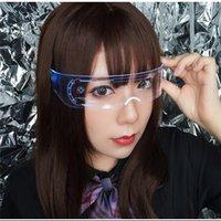 لوازم الحزب LED نظارات الإبداعية فلاش مضيئة نظارات الصمام الخفيفة نظارات المستقبل التكنولوجيا النظارات بار فلاش glasseszc211