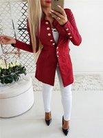 Women's Suits & Blazers Autumn Women Winter Suit Blazer Office Ladies Single Breasted Lady Long Jackets Elegant Outerwear Solid Coats 2021