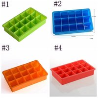 15 Lattice Silicone Ice Molds Portable Square Cube Chocolate Candy Jelly Mold DIY Ice Cube Mold JJA227