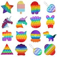 Regenbogen Push Bubble Sensory Zappeln Spielzeug Autismus Squishy Stress Reliever Spielzeug Erwachsene Kind Unicorn Zappeln Spielzeug Dropshipping