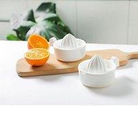 Mutfak Aletleri Beyaz Manuel Sıkacağı Turuncu Limon Mini Meyve Sebze Sıkacağı Aksesuarları Çift Güverte Sıkacaklar Yüksek Kalite GWF7553