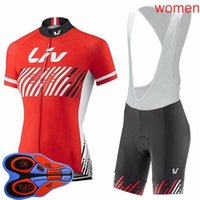 LIV Equipo Ciclismo Mangas cortas Jersey BIB Shorts Sets MTB Bike Ropa transpirable Racing Bcycle Outfits Outtoo Sportswear S210052630