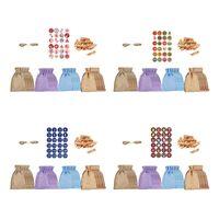 Gift Wrap 24 Lot Linen Jute Drawstring Bags Sacks Wedding Birthday Party Favors Christmas Supplies