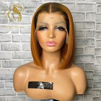 Lace Wigs Ginger Orange Color 4x4 Clousre With Baby Hair 13x1 Short Bob Front Wig Brazilian Remy Human