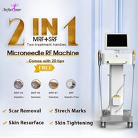 Fast delivery 2in1 rf fractional micro needle salon beauty equipment skin rejuvenation face lifting wrinkles removal machine medical grade clinic use