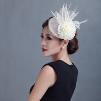 Mariage de mariée Sinamay Fascinator chapeau Cocktail Party Partie Cuisson Headwear Headwear Lady Formel Fleur Cheveux Accessoires