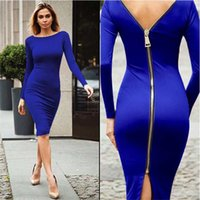 New Summer Women's Dresses Nightclub Plus Size Skirts European And American Slim Zipper Long