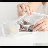 여성을위한 명확한 화장품 가방 투명 메이크업 케이스 메이크업 주최자 세면 용품 패션 여행 키트 저장 파우치 가방 VT0278 Koiym Q48TJ