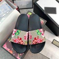 2021 Mężczyźni Kobiety Sandały Designer Buty Luksusowe Zbiór Lato Moda Szeroki Płaski śliski z grubym Sandalem Pantoflowe Klapki Rozmiar 36-48