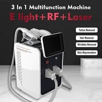 CE approved 3 in 1 Portable Multifunction Skin Tightening Beauty Equipment Laser Hair Tatoo Removal Machine IPL+RF+Nd Yag Laser Devices