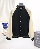 Giacca da uomo Fashion Classic Man Jacks di lusso Black Single-Breasted 3 Color Rivet Letter Stampato Cappotti Stylsh Streetwear Abito da baseball