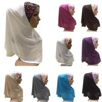 One Piece Ramadan Muslim Hijab Amira Turban Prayer Hijabs Niqab Burqa Instane Scarf Ready To Wear Islamic Overhead Full Cover