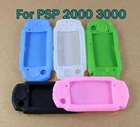 حالة الغطاء السيليكون لشركة PSP 2000 3000 لينة المطاط واقية قذيفة الجلد ل PSP2000 PSP3000 وحدة التحكم