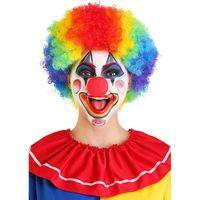 Outros suprimentos de festa de evento Halloween engraçado Circus Clown Perucas Caps Disco Explosive Head Wig Dance Bar Decoração de Desempenho