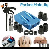 Power Home Garden15 Graden Pocket Jig Houtbewerkingsgids Set Puncher Oblique Boorhoek Hole Locator Bits DIY Timmerwerk Gereedschap Drop levering