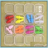 Assistenza per la cura della salute Beautysile Earplugs Swimmers Tappi morbidi e flessibili per viaggiare Slee Ridurre il rumore Tappo dell'orecchio Colori misti Drop DeLive