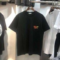 Alta qualità 1: 1 Kan Yetong Gallery Fashion Brand New Dept Men's e Donne Collo T-shirt a maniche corte in cotone a maniche lunghe