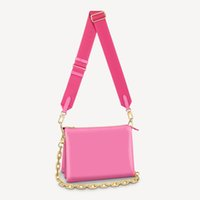 Coussin PM Bag Vibrant Blue Red and Pink with Purple 26cm Women Puffy Style Cross Body