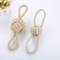 Dog cotton rope toy interactive double ring eight character anti bite and molars cleaning pet products wholesale
