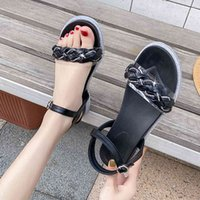 Chinelos Lucyever Fashion Crystal Sandalias Mujer Summer Flash Borda Macio Bottom Wove Sandálias Momen Comerde Apartamento Casual Caminhadas S