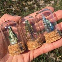 Gökkuşağı Bizmut Kristaller Metal Mineral Numune Ekran Kutusu 1 ADET Şifa Taş Dekoratif Nesneleri Figürinler
