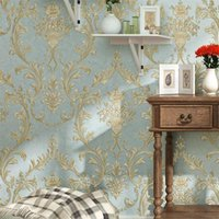 Wellyu 3D Non - Woven Wallcovering Three Dimensional Pastoral European Bedroom TV Background Wallpaper Wallpapers