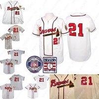 Warren Spahn Jersey Baseball 1957 قاعة شهرة كريم أبيض رمادي