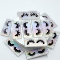 Faux 3D visón pestañas long gruesa hecha a mano de pestañas falsas maquillaje suave peso ligero cruzar pestañas crueldad libre