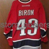Billig benutzerdefinierte Martin Biron Koho Hockey Buffalo Sabes Red Jersey Herren genäht Hockey Jersey Jeder Name Nummer