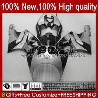 Bodywork Body For KAWASAKI NINJA grey black ZX-750 ZX7R stock ZX750 ZX 7 R ZX 750 28HC.143 ZX 7R 1996 1997 1998 1999 2000 2001 2002 2003 ZX-7R 96 97 98 99 00 01 02 03 OEM Fairing