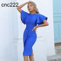 Ocstrade Bandage Dress 2021 New Arrival Blue Bodycon Summer Birthday Outfits for Women Sexy Night Club Party