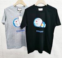 21s europa itália EUA primavera verão moda t shirt desenhos animados dormir impressão tshirt homens mulheres manga curta streetwear tee