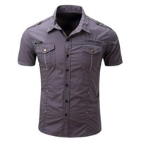 European Casual Men Shirts Short Sleeves High Quality Toolin...