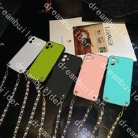 fashion phone cases for iphone 12 pro max 12mini 11 11Pro 11proMax 7 8 plus X XR XSMAX leather case designer shell With pearl lanyard