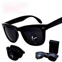 Faltsame Sonnenbrillen 3019 Sport Faltbare Box Sicherheit Explosionsgeschützte Sonnenbrille Männer und Frauen Smith Nagel Gläser Leopard Print