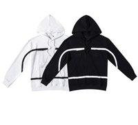 Hoodies Tendência Moda Preto Branco Corações Crosin Sweater 2021 Carta Flor Impressão Zipper Casaco para Homens e Mulheres Pulôver
