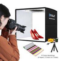 PULUZ Photo Studio Light Box with 12 Colors Background Mini Tabletop Lightbox Photography Soft Box Shooting Box Tent Ring Light