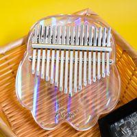 Kimi Kalimba Thumb Piyano Kristal Kedi Pençe Şeffaf Şekil Parmak Piyanolar Ses Renk Saf Ergonomik Anahtar Tasarım Yeni Başlayanlar için bir zorunluluktur