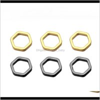 50 pcslot mode laiton creux pendentif géométrique cuivre hexagone charmes pour bricolage bracelet collier boucles d'oreilles bijoux fabrication s2jpl 14dpl