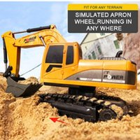 RC Car 1: 24 Remote Control Construction Car 2.4G Mini Plastic Excavator Model Engineering Car Digger Toy
