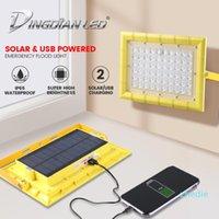 휴대용 제등 Soalr LED 캠핑 조명 USB 충전식 태양 전원 80W 방수 PowerBank 기능 마그네틱 작업 비상 홍수