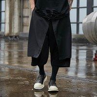 Мужские брюки S-6XL! 2021 Оригинальный большой папочкой Pant Man Four Seasons Tide Возьмите юбку для размещения повседневного стиля темный показать широкую ногу